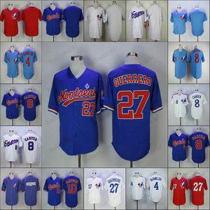 Personalizado Montreal Expos qualquer nome de número 8 Gary Carter 45 Pedro Martinez homens retro jersey mulheres jovens 34 BryceHarper 27 Vladimir Guer