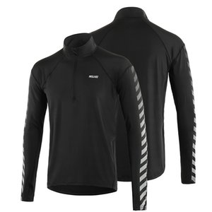 Men's Pullover Shirt Athletic Quick Dry Long Sleeve T-shirt Running Cycling Jersey Shirt Fitness Sportswear