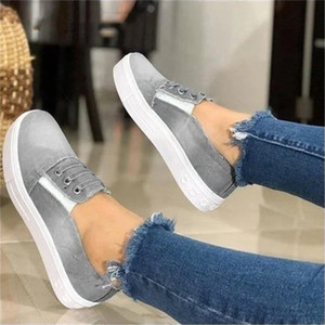 Women Flat Shoes Fashion Female Casual Outdoor Sneakers Loafers Soft Bottom One Pedal Lazy Shoes Wedge Slip On Flats 2020 New