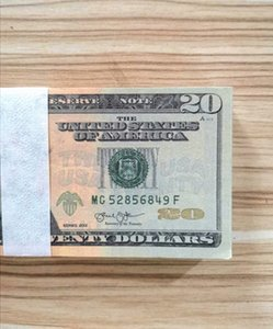 Frete grátis Nightclub e filme prop dinheiro Jogo jogo do partido dinheiro específico Copiar 20 50 100 EUA dólar falso boleto 100pcs / Pack 03
