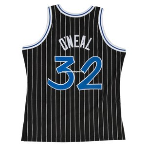 Retro SHAQUILLE O'NEAL #32 Black Sewn high quality Vintage Top JERSEY Mens Vest Size XS-6XL Stitched basketball Jerseys Nc