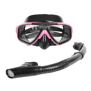 Scuba Diving Snorkeling Freediving Mask Snorkel Set for Men and Women - Premium and Professional - 4 Colors