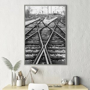 Canvas Painting Wall Artwork Home Decoration Modern Picture Rain Track Photo Black And White Hd Print Modular Poster For Bedroom