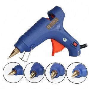 EU Plug 1mm de diâmetro cobre Bico 60W Hot Melt Glue Gun pequena abertura com paus 5pcs cola, 1pcs / lot h2dd #