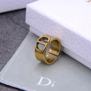 2020 New D / Di Ring Frauen-CD Brief Temperament Net Rotguss Ohrringe Halskette Armband