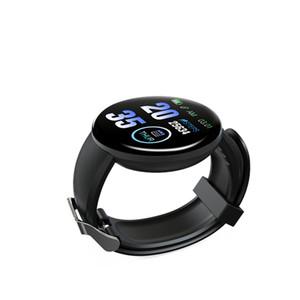 Reloj elegante D18 color TFT de pantalla de presión arterial Deporte pulsera monitor de ritmo cardíaco rastreador de ejercicios IP65 a prueba de agua inteligente Banda