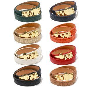 Fashion Brand PU Leather Bangle Bracelets Punk Bracelet Jewelry for Lady Designer Women Party Wedding Jewelry for Bride Engagement