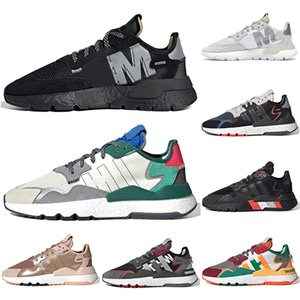 Adidas Nite Jogger boost 3m Hommes Femmes des Chaussures de course baskets réfléchissantes baskets de tennis respirantes vertes collégiales ALL noir triple baskets blanches