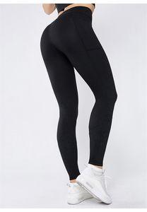 Taille haute yoga poche de pantalon maigre Tummy Jambières Courir Fitnes Contrôle de levage butt Pantalons femmes Booty Collants capris volonté et cadeau de sable