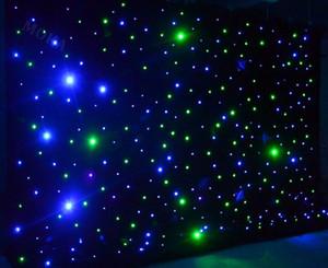 LED Perde Yıldız Işık 4x6m Sahne Efekti Işık RGBY Sahne Örtüler Defileler Düğün Sahne Arkaplan Renkli Bezi için