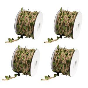 Serapilheira guita videira com Artificial folhas Garland para DIY Crafts e decoração (4 rolos, 5M)
