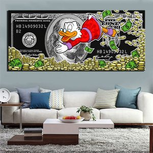 Dollar Money Duck Poster Alec Monopoly Painting Canvas Graffiti Modern Art Deco Wall Picture Home Decoration