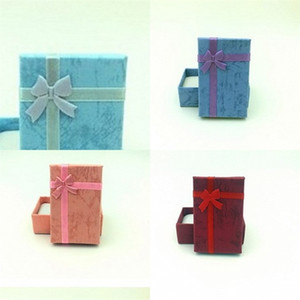 5x8cm Exquisite Universal-Schmuck-Box-Ring Ohrmuschel Nadelung Papier Fall Beschaffenheit des Materials Schmetterling Bowknot Organizer 0 46xn B2