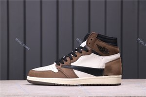 xshfbcl New 2020 fashion Travis Scott 1 Low OG SP Dark Mocha Cactus Jack Men Running Shoes Sports Sneakers 36-45