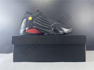 2020 OG Последний выстрел черный красный Jumpman 14 14S Мужчины Баскетбол обувь углеродного волокна Mens тренер Спорт Спортивный кроссовки Размер 7-13 487471-003