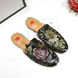 Aşk Baotou yarı - princetown loafer'lar terlik Mueller ayakkabı çiçek
