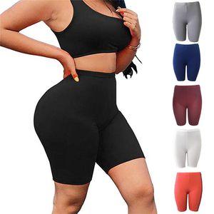 Yoga Kıyafetler Kadın Yüksek Bel Spor Fitness Şort Stretch Hızlı Kuruyan Kırpılmış Sweatpants için uygun ve spor salonu (S / M / L / XL)