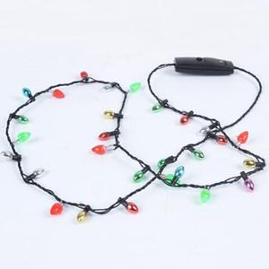 LED Kolye Yanıp sönen Boncuklu Işık Parlayan kolye Salkım Oyuncak Noel Hediyesi Parti Favor hediyeler CCA6936 100pcs