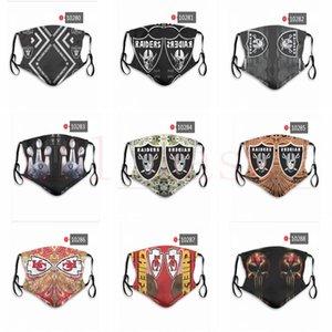 DHL express máscaras de diseño ChiefsRaiders Rugby precios máscaras de polvo reutilizable equipo de fábrica pueden ser pedidos mixtos, por favor deje un mensaje