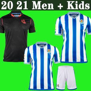20 21 Real Sociedad terceiro OYARZABAL ISAK PORTU Soccer Jersey 2020 2021 homens MERINO WILLIAN Barrenetxea + crianças Football Shirt