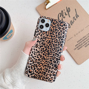 Leopard Pattern Skin Phone Case for iPhone 11 Pro Max X XR XS MAX 7 8 6 6s Plus Soft TPU Silicon Cover Couple Designer 300pcs