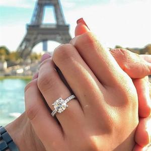 Heiße neue Art und Weise Mini Zircon Princess Square Diamant-Ring-Verlobungsring CNE Schnelle Lieferung