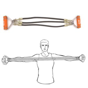 IBEAR Three-Tube Chest Expander Rubber Latex Elastic Bands Pedal Puller Arm Power For Home Yoga Fitness Strength Training #