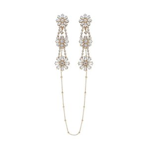 Necklace One-piece Piece Hanging Neck Personality Simple Flower Tassel Female Temperament Earrings J190702