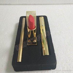Famous Brand Makeup 3pcs Sets Mascara Lipstick Eyeliner 2 styles 3 in 1 Cosmetics free DHL