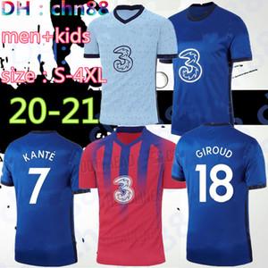 formato: S-4XL 2020 2021 KANTE PULISIC HUDSON PEDRO Odoi Jorginho LAMPARD Giroud pullover di calcio 20 21 uomini + T-shirt bambini della casa di calcio Willian