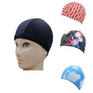 Motif d'impression Bonnet de bain en nylon Solide Couleur Douche Chapeau Imperméabilisants Coiffures spécial pour nager et Wading Adult Only 0 9dm B2