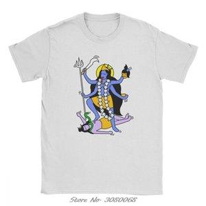 Шива Кали Индийский стиль футболки мужчин Горячие Продажа хлопка Уникальные футболки O-образным вырезом 100% Одежда тройники Streetwear
