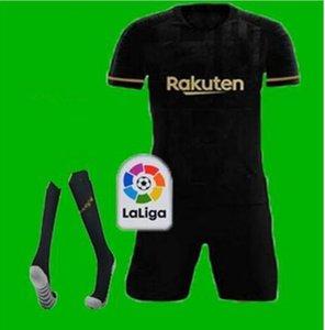 FC BARCELONE maillot de football 20 21 camisetas de futbol ANSU FATI 2020 2021 Messi Griezmann DE JONG hommes Maillots de football shirt enfants Kit donc