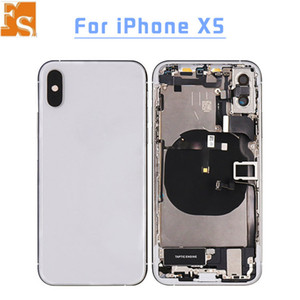 Best Quality For iphone 8 8plus X XR XS XS MAX Back Glass Middle Frame Chassis Full Housing With Flex Cable Assembly Battery Cover door