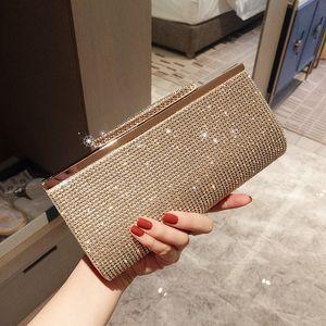 2020 new full diamond clutch dinner bag wedding handbags female party bag bling bing Bridal handbags