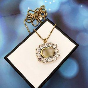 Vintage Pearl Алмазные ожерелья Letters G конструктора ожерелья Anniversary женщин Алфавит Подвеска Ожерелье Подарок для партии
