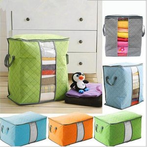 Portable Non Woven Quilt Storage Bag Clothing Blanket Pillow Underbed Bedding Big Organizer Bags House Room Storage Boxes Buggy Bags INS