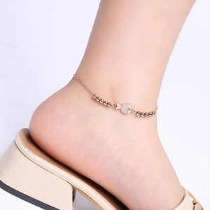 F43 Mischauftrag der Frauen Edelstahl Fußkettchen Knöchel-Kette Fußkettchen Fußfessel Fisch Perlen Fußkettchenschmucksachen supplier 022