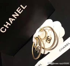 European and American fashion hot sale new black drop oil diamond circle earrings luxury custom brass material gold-plated S925 silver stud