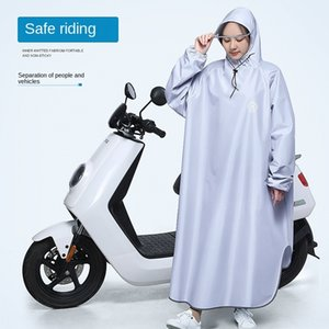 4CqPi Swallow electric battery car with sleeve raincoat men's and Cloak motorcycle women's fashion motorcycle thickened single riding poncho