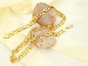High Quality Eight Letter Shaped 18K Solid Gold Necklace For Men Women Chain Jewelry 51cm 0.9cm