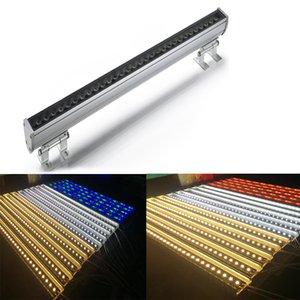 fase del LED di colore cangiante luce impermeabile IP65 36W RGB DMX dimmerabile luce wall washer DC24V LED, usata per la decorazione esterna albergo