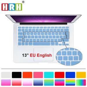 """Hrh silicone Uk Eu Clavier anglais Housse de protection autocollant Film pour macbook blanc Air Pro 13 15 17 Pour Mac Book Air 13"""" T190619"""
