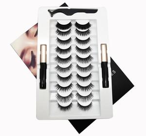 EPACK 10Pairs 3D Vizon Kirpikler Güzellik Yanlış Eyelashes Göz Makyajı Uzatma Doğal Wispies Kabarık Göz Magic Lashes Tam Hacim