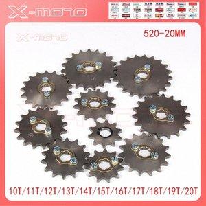 10T 11T 12T 13T 14T 14T 15T 16T 17T 18T 19T 20T Teeth 20mm Front Sprocket For 520 Chain Loncin Lifan Engine Pit Bike ATV xz250r zOLC#
