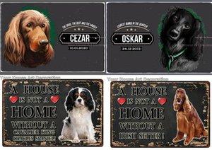 Black White Cachorro de Metal Sign Poster Tin A Home Doberman Labrador Home Decor Bar Wall Art Pintura 7.8x11.8inch