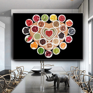 Nordic Fruit Vegetable Canvas Oil Painting Scandinavian Food Posters and Prints Modern Wall Art Pictures for Dining Room Kitchen Decor