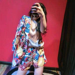Europe 2020 summer new suit fashion suit Korean version suit jacket shorts women's two-piece temperament
