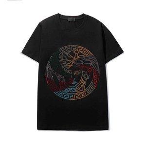 Free Shipping Summer Top Men's Avatar Rhinestone T-Shirt Cotton O-Neck Short Sleeve Slim T-Shirt