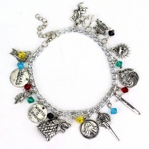1pc muito Once Upon a Time Supernatural Percy Jackson Dr que Game of Throne Divergent Charm Bracelet G3wO #